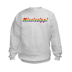Rainbow Mississippi Text Sweatshirt