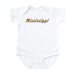 Rainbow Mississippi Text Infant Bodysuit
