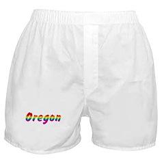 Rainbow Oregon Text Boxer Shorts