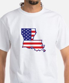 LA USA Flag Map 1 Shirt