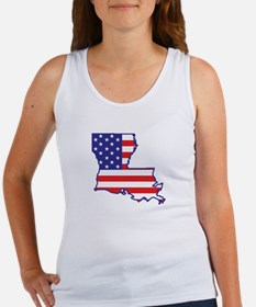LA USA Flag Map 1 Women's Tank Top