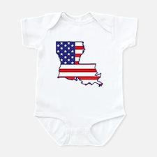 LA USA Flag Map 1 Infant Bodysuit