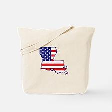 LA USA Flag Map 1 Tote Bag