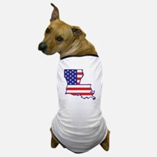 LA USA Flag Map 1 Dog T-Shirt