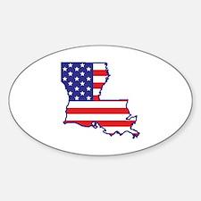LA USA Flag Map 1 Decal