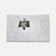 Finding Money Rectangle Magnet