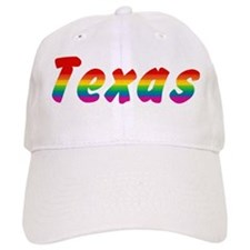 Rainbow Texas Text Baseball Cap