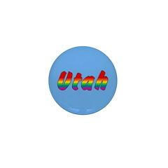 Rainbow Utah Text Mini Button (10 pack)