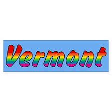 Rainbow Vermont Text Bumper Sticker