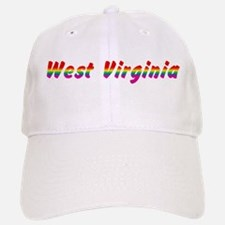Rainbow West Virginia Text Baseball Baseball Cap