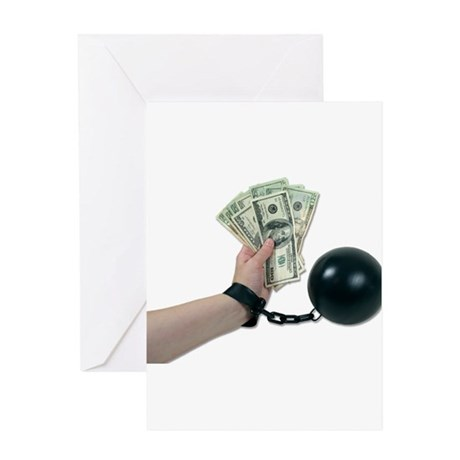 Money Issues Greeting Card