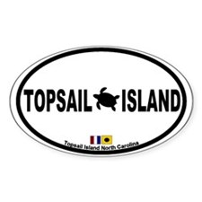 Topsail Island NC - Oval Design Decal