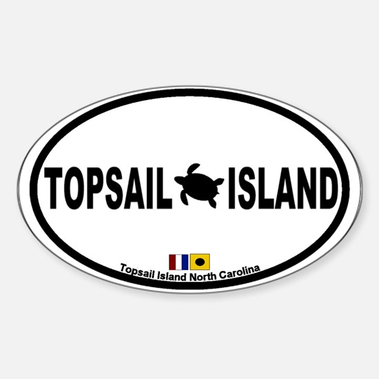 Topsail Island NC - Oval Design Sticker (Oval)