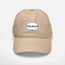 Topsail Island NC - Oval Design Baseball Baseball Cap