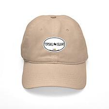Topsail Island NC - Oval Design Baseball Cap