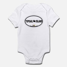 Topsail Island NC - Oval Design Infant Bodysuit