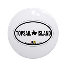 Topsail Island NC - Oval Design Ornament (Round)