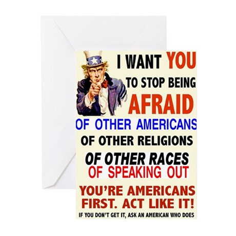 BE AFRAID Greeting Cards (Pk of 20)
