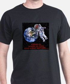 """TO BOLDLY GO..."" Black T-Shirt"