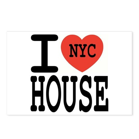 I Love NYC House Postcards (Package of 8)