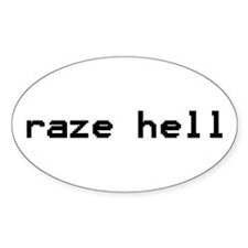 raze hell Oval Decal