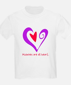 Midwives are All Heart - Purp T-Shirt