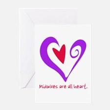 Midwives are All Heart - Purp Greeting Card