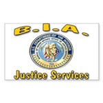 B.I.A. Justice Services Sticker (Rectangle)