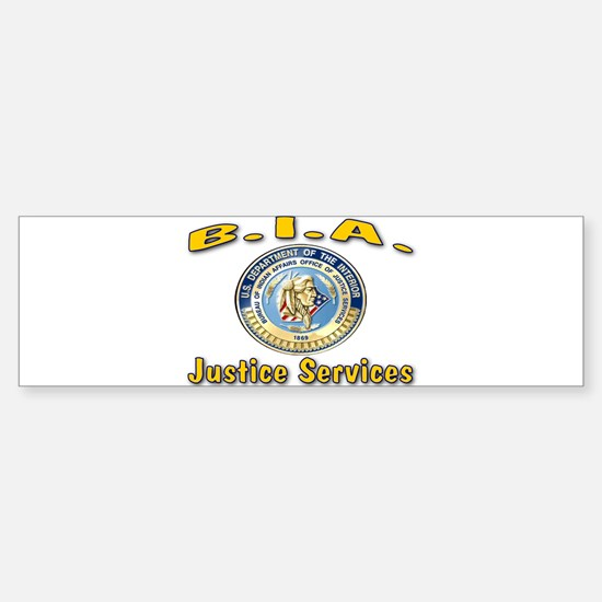 B.I.A. Justice Services Sticker (Bumper)