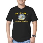 B.I.A. Justice Services Men's Fitted T-Shirt (dark