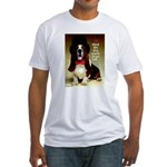 Dog Wants To Go Out! Fitted T-Shirt