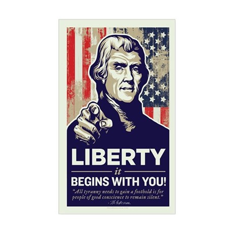 Jefferson Liberty Sticker (Rectangle)