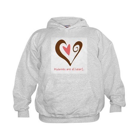 Midwives All Heart - Brown Kids Hoodie