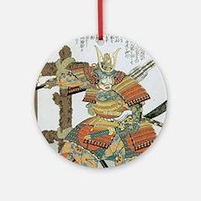 Samurai Warrior Imagawa Yoshimoto Ornament (Round)