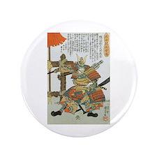 """Samurai Warrior Imagawa Yoshimoto 3.5"""" Button"""