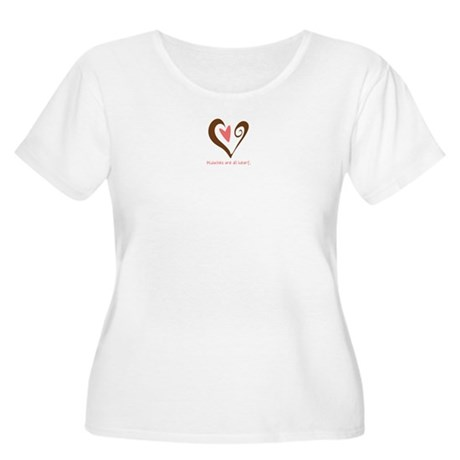 Midwives All Heart - Brown Women's Plus Size Scoop