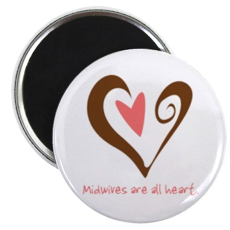 "Midwives All Heart - Brown 2.25"" Magnet (10 pack)"