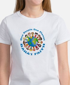 One people One planet Baha'i Women's T-Shirt