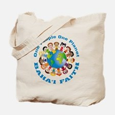 One people One planet Baha'i Tote Bag