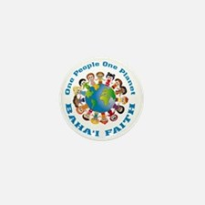 One people One planet Baha'i Mini Button (10 pack)