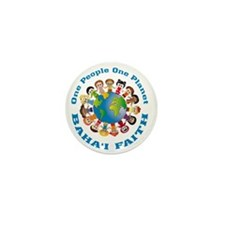 One people One planet Baha'i Mini Button