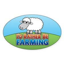 Cartoon Farmville Sheep Decal