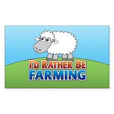 Cartoon Farmville Sheep Decal