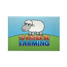 Cartoon Farmville Sheep Rectangle Magnet