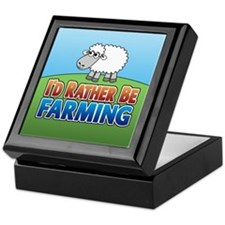 Cartoon Farmville Sheep Keepsake Box
