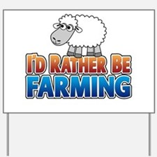 Cartoon Farmville Sheep Yard Sign