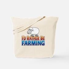 Cartoon Farmville Sheep Tote Bag