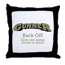 Gunner - Back Off Throw Pillow