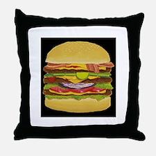Cheeseburger king Throw Pillow