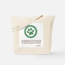 Gandhi Green Paw Tote Bag